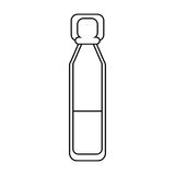 Bottle vials medical healthy thin line Royalty Free Stock Photo
