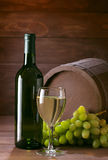 Bottle of vine stock photos