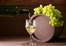 Bottle of vine Stock Images