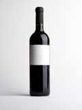Bottle of vine with empty label Stock Image