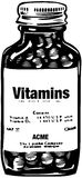 Bottle Of Vitamins Stock Images