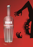 Bottle of vodka. Vector illustration Stock Image
