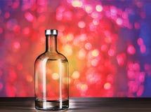 Bottle of vodka stock image