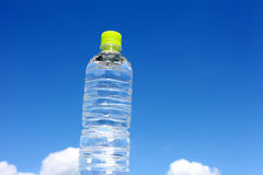 Bottle of water. And blue sky Royalty Free Stock Photography
