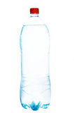 Bottle of water. A plastic bottle filled with still water. Image isolated on white studio background stock photo