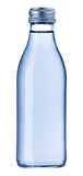 Bottle of water. Glass bottle with clear water; isolated on white background stock photos