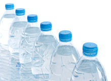 Bottle water. Row of bottle water for your background royalty free stock photography