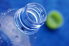 Bottle of water. Close up of plastic bottle of water royalty free stock photos