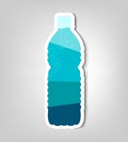 Bottle of water. Vector poster Royalty Free Stock Photography