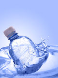 Bottle in water Stock Image