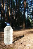 Bottle of water. Bottle of clean water in the forest Stock Photo
