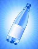 Bottle of water on blue background Royalty Free Stock Photography
