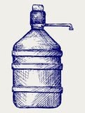 Bottle water. Doodle style Royalty Free Stock Images
