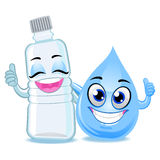 Bottle and Water Drop Mascot Stock Photography