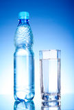 Bottle of water and glass Royalty Free Stock Image