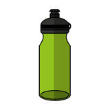 Bottle water gym isolated icon Royalty Free Stock Photos