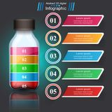 Bottle, Water Infographics. Royalty Free Stock Photography