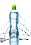 Bottle of water leaking Royalty Free Stock Photography