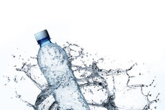 Bottle in water splash Stock Photography