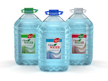 Bottle of water on white background Stock Image