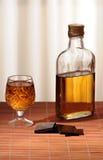 Bottle whiskey Stock Photo