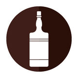 Bottle whiskey expensive liquor shadow. Vector illustration eps 10 Royalty Free Stock Photos