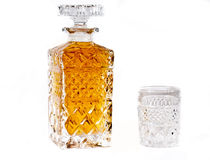 Bottle of whisky Stock Photography