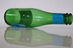 Bottle on white background. Soda bottle. Green bottle. royalty free stock image