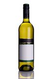 Bottle of white wine royalty free stock photo