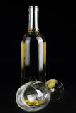 Bottle of white wine Stock Photography