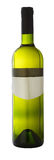 Bottle of white wine Stock Image