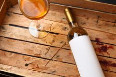 Bottle of white wine Royalty Free Stock Image