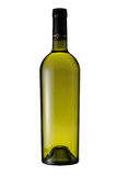 Bottle of white wine isolated with clipping path Stock Image