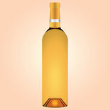 Bottle of white wine Royalty Free Stock Images