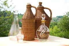 Bottle of wicker Stock Photos