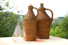 Bottle of wicker Royalty Free Stock Photography