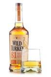 Bottle of Wild Turkey Kentucky straight bourbon whiskey Stock Image