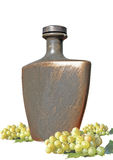 Bottle with wine Royalty Free Stock Photography