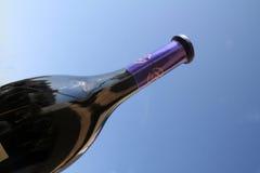 Bottle of wine. Bottle of French wine stock photo