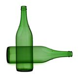 Bottle of wine. Isolated in a white background royalty free stock image