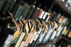 Bottle of wine royalty free stock image