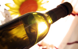 Bottle of wine Royalty Free Stock Images