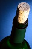 Bottle of Wine. Above tilt view. Stock Photos
