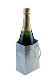 Bottle of Wine as a Gift Royalty Free Stock Images