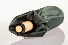 Bottle of wine in a bag Stock Photos