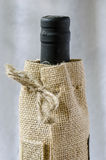 Bottle of wine in the bag Royalty Free Stock Photo