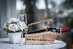 Bottle of wine Stock Photography