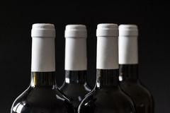 Bottle of wine. On black backgroud royalty free stock images