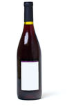 Bottle of wine with blank label Stock Images