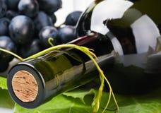 Bottle of wine close-up Stock Photos